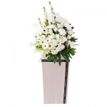 FS-61 BUY WHITE FUNERAL FLOWER STAND