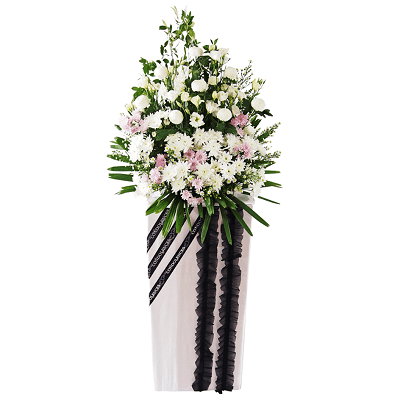 FS-39 BUY WHITE FUNERAL FLOWER STAND