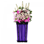 FS-46 BUY PURPLE FUNERAL FLOWER STAND