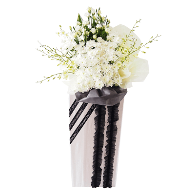 FS-44 BUY WHITE FUNERAL FLOWER STAND