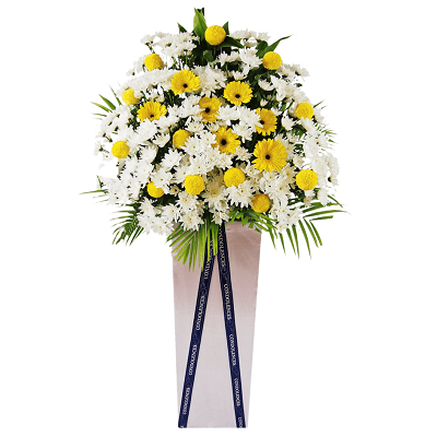 FS-34 BUY WHITE FUNERAL FLOWER STAND