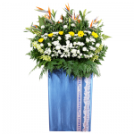 FS-54 BUY BLUE FUNERAL FLOWER STAND