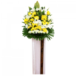FS-57 BUY WHITE FUNERAL FLOWER STAND