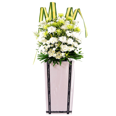 FS-63 BUY WHITE FUNERAL FLOWER STAND