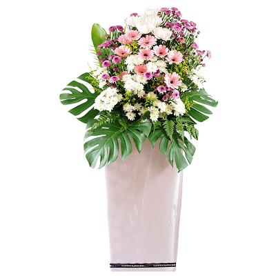 FS-62 BUY WHITE FUNERAL FLOWER STAND