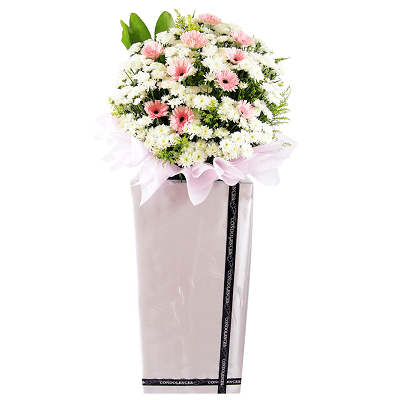 FS-64 BUY WHITE FUNERAL FLOWER STAND