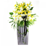 FS-12 BUY WHITE FUNERAL FLOWER STAND