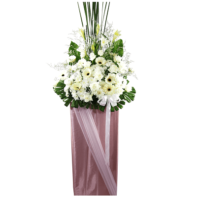 FS-07 BUY WHITE FUNERAL FLOWER STAND