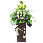 FS-01 BUY BROWN FUNERAL FLOWER STAND