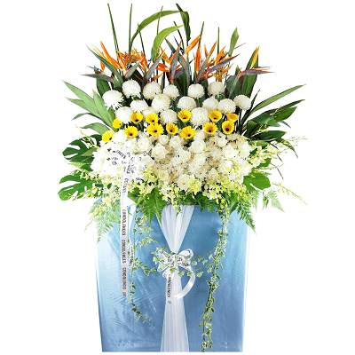 FS-16 BUY BLUE FUNERAL FLOWER STAND