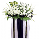 FS-25 BUY WHITE FUNERAL FLOWER STAND