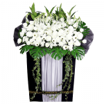 FS-24 BUY BLACK FUNERAL FLOWER STAND