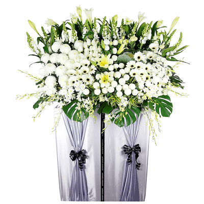 FS-23 BUY WHITE FUNERAL FLOWER STAND