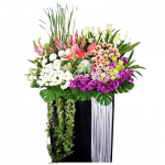 FS-74 BUY BLACK FUNERAL FLOWER STAND