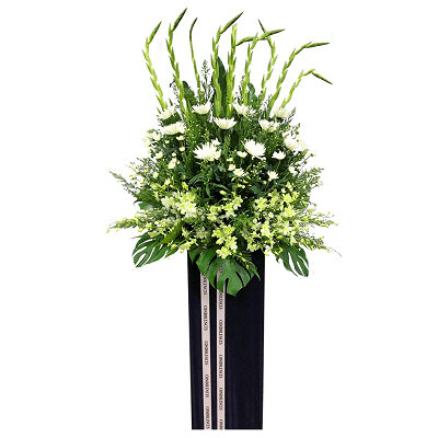 FS-76 BUY BLACK FUNERAL FLOWER STAND