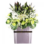 FS-36 BUY WHITE FUNERAL FLOWER STAND