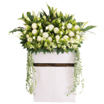FS-80BUY WHITE FUNERAL FLOWER STAND