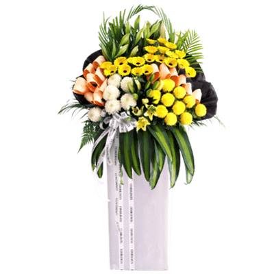 FS-81 BUY WHITE FUNERAL FLOWER STAND