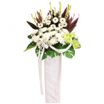 FS-95 BUY WHITE FUNERAL FLOWER STAND