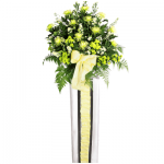 FS-92 BUY WHITE FUNERAL FLOWER STAND