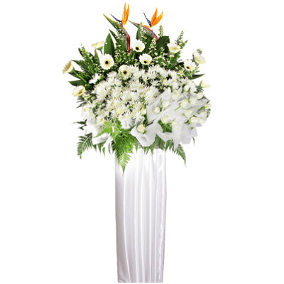 FS-91 BUY WHITE FUNERAL FLOWER STAND