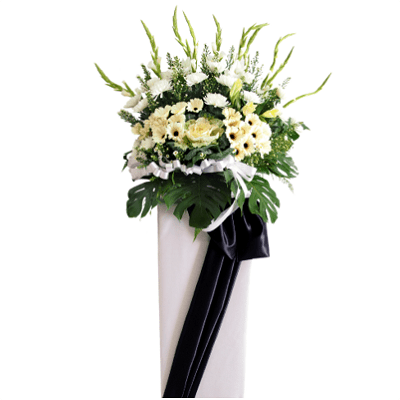 FS-89 BUY WHITE FUNERAL FLOWER STAND