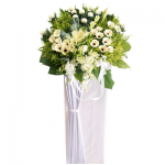 FS-88 BUY WHITE FUNERAL FLOWER STAND
