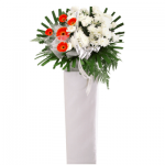 FS-85BUY BLACK FUNERAL FLOWER STAND
