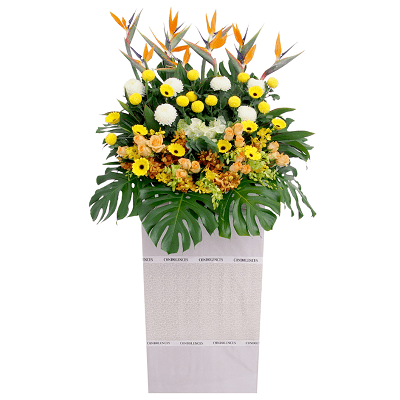 FS-101 BUY WHITE FUNERAL FLOWER STAND