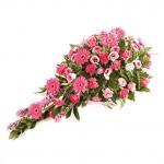 CS-06 SENTIMENTS pink gerbera pink roses carnationCASKET SPRAYS