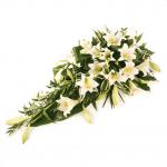 CS-05 white longiforum lilies CASKET SPRAYS