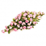 CS-04 pink roses and pink lilies CASKET SPRAYS