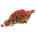 CS-03 red roses CASKET SPRAYS in Singapore