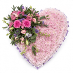 HSW-03 shop PINK HEART SHAPE WREATH