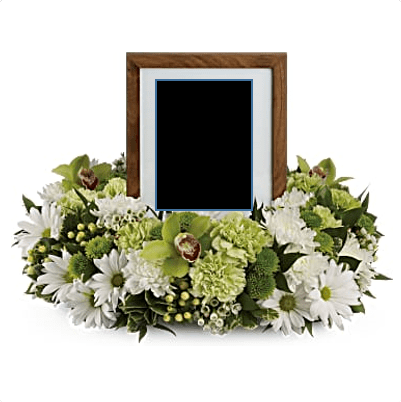 FUF-08 photo frame FUNERAL URN FLOWERS