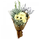 PB-28 BUY BROWN FUNERAL FLOWER BOUQUET