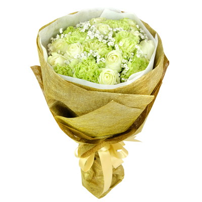 MDAY-104 BUY GOLD FUNERAL FLOWER BOUQUET