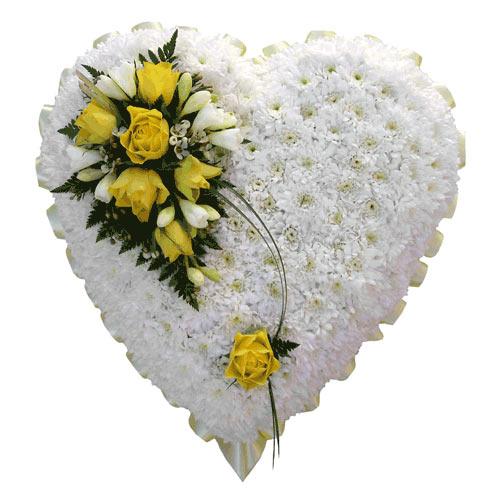closed heart wreath funeral sg