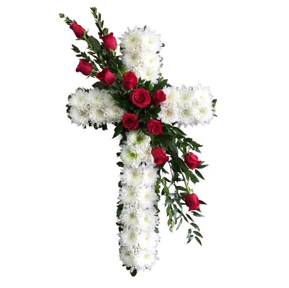 simple cross wreath