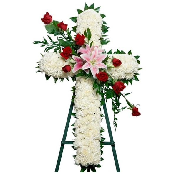 cross wreath online