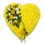 yellow floral heart wreath funeral Singapore