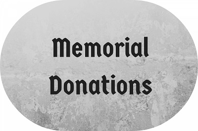 how much to give for Memorial Donations